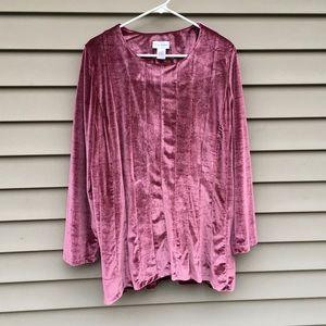 Soft Surroundings Purple velvet tunic 1X plus size